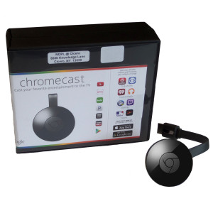 Chromecast Kit includes: Chromecast, power cord & instructions