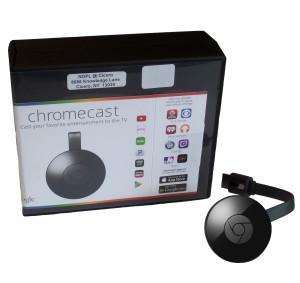 Chromecast Kit includes: Chromecast, power cord & instructions