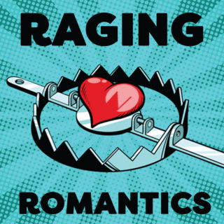 Raging Romantics image, a heart in a bear trap