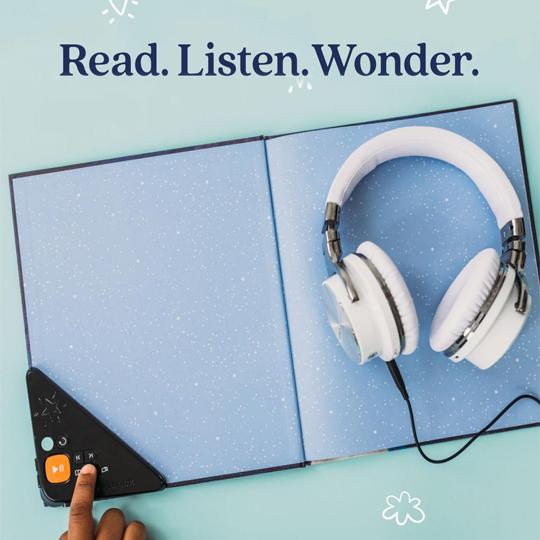 Wonderbook, an audiobook built into the book.